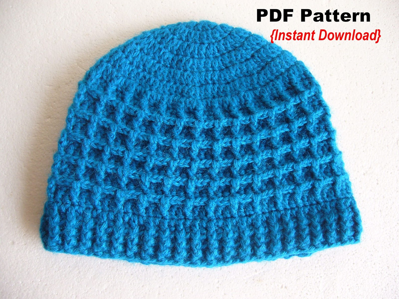 Crochetkari  Crochet Waffle Stitch Hat Pattern ad41b71137a
