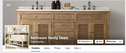 Follow me on Facebook and never miss a vanity sale! Get all the latest trends and deals here.