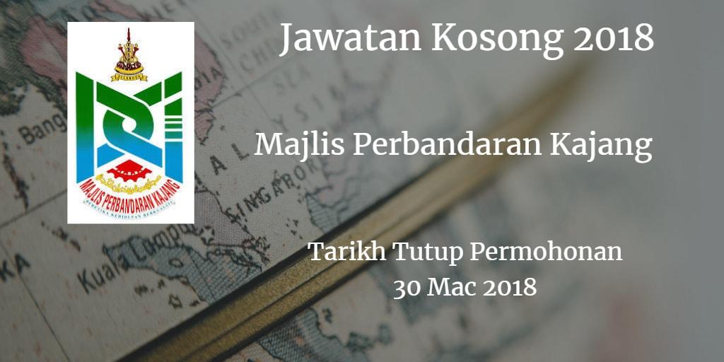 Jawatan Kosong MPKj 30 Mac 2018
