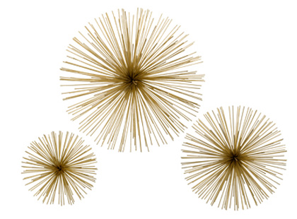 gorgeous shiny things make this diy starburst wall sculptures. Black Bedroom Furniture Sets. Home Design Ideas