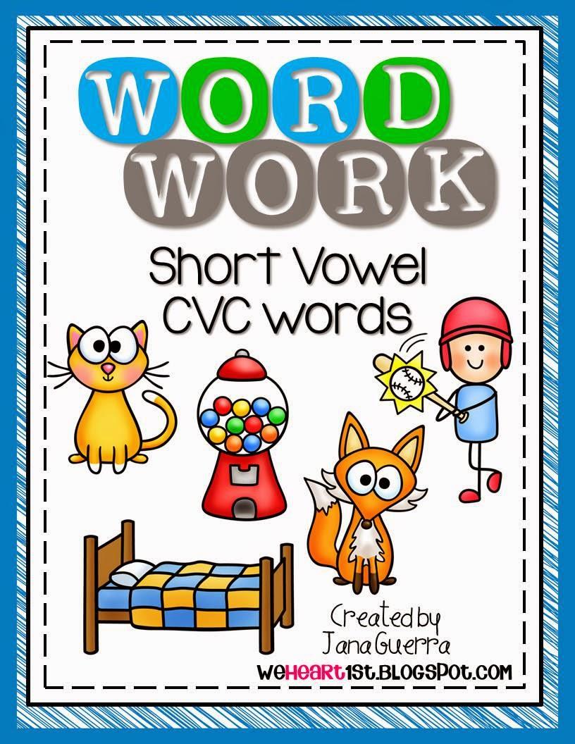 http://www.teacherspayteachers.com/Product/Word-Work-BUNDLE-Short-Vowel-CVC-Weekly-Activities-1360421