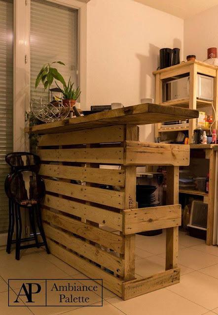 Barra y mueble auxiliar para cocina for Mueble barra cocina
