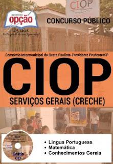 Apostila CIOP Presidente Prudente,Serviços Gerais (Creche)