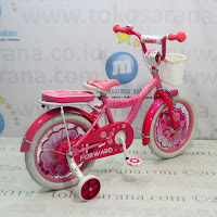 Sepeda Anak Perempuan Forward Leopord Coaster Brake 16 Inci