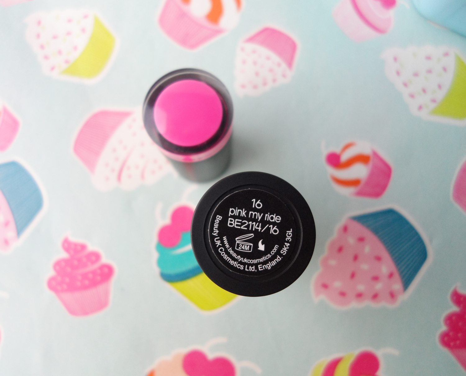 Beauty UK Lipstick pink my ride review