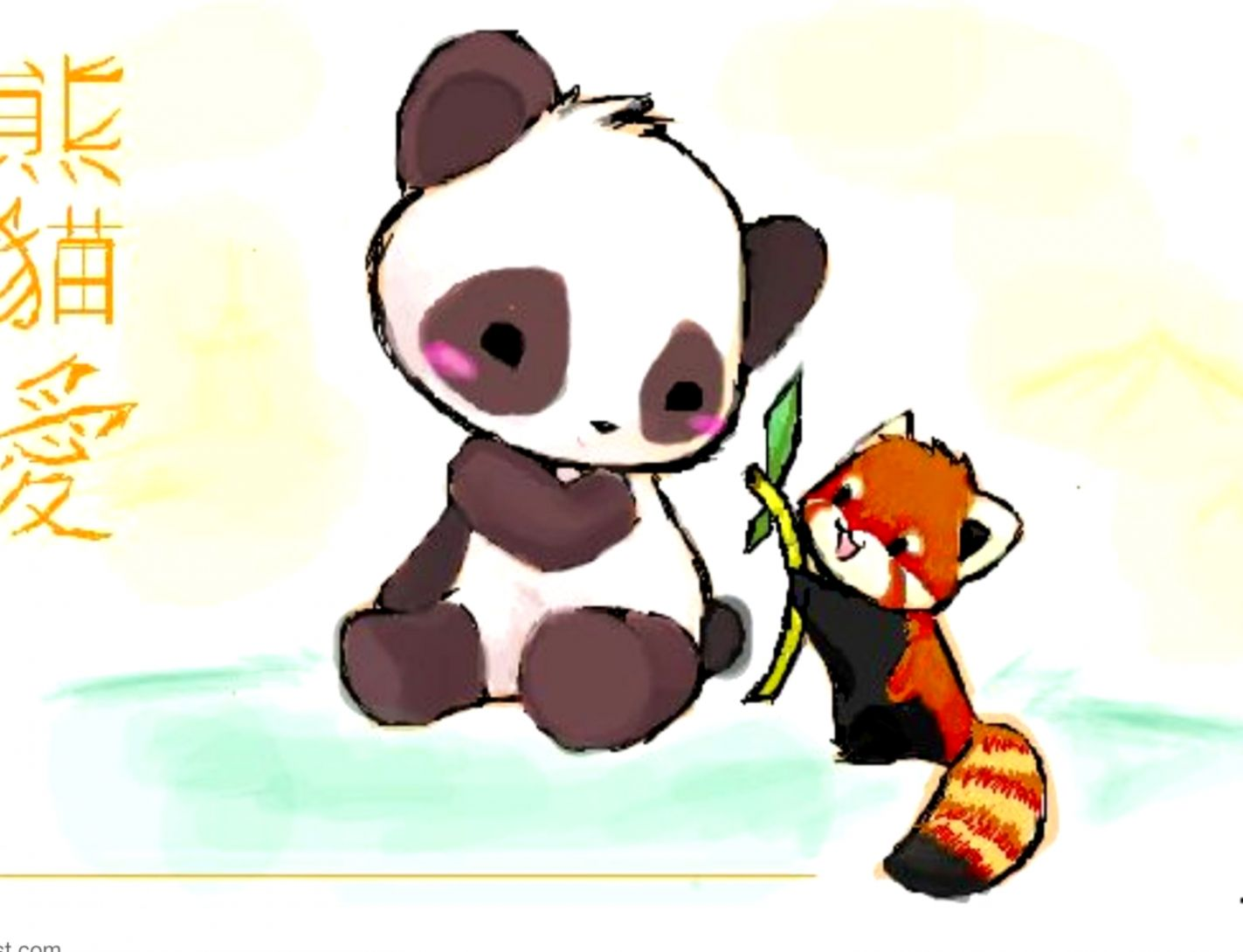 Cute Red Panda Drawing Wallpapers Mhytic