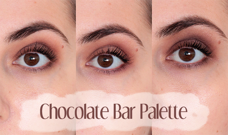 3 looks Chocolate Bar Palette