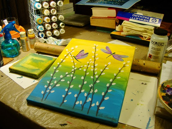 Getting Ready For Spring And New Painting On Canvas Classes At TF Rice Co Im Always Trying To Come Up With Ideas