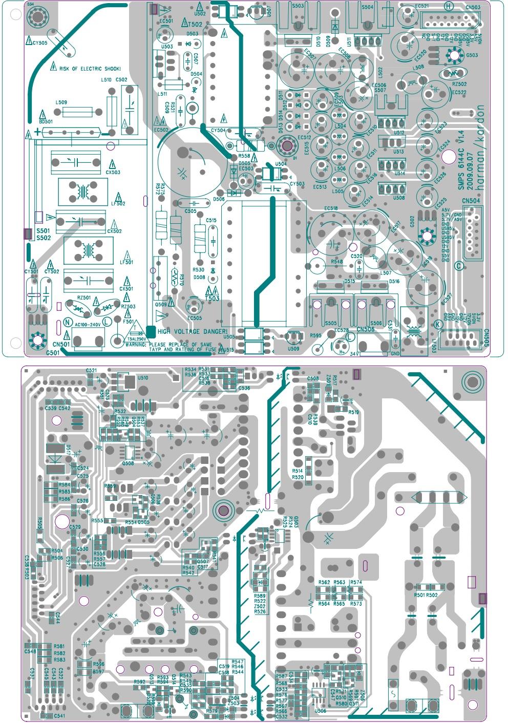harman/kardon HK HS 2X0/230 - SMPS and Power Amplifier Circuit ...