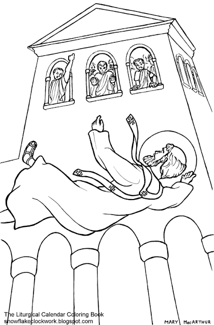 Snowflake Clockwork: Holy Family coloring page, December ...