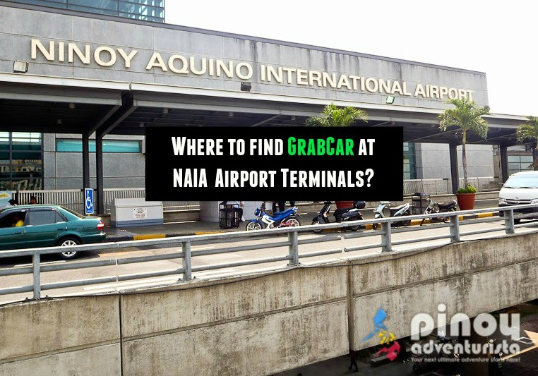 GrabCar Airport Pick-up Points at NAIA Terminals 1, 2, 3 and 4 (with