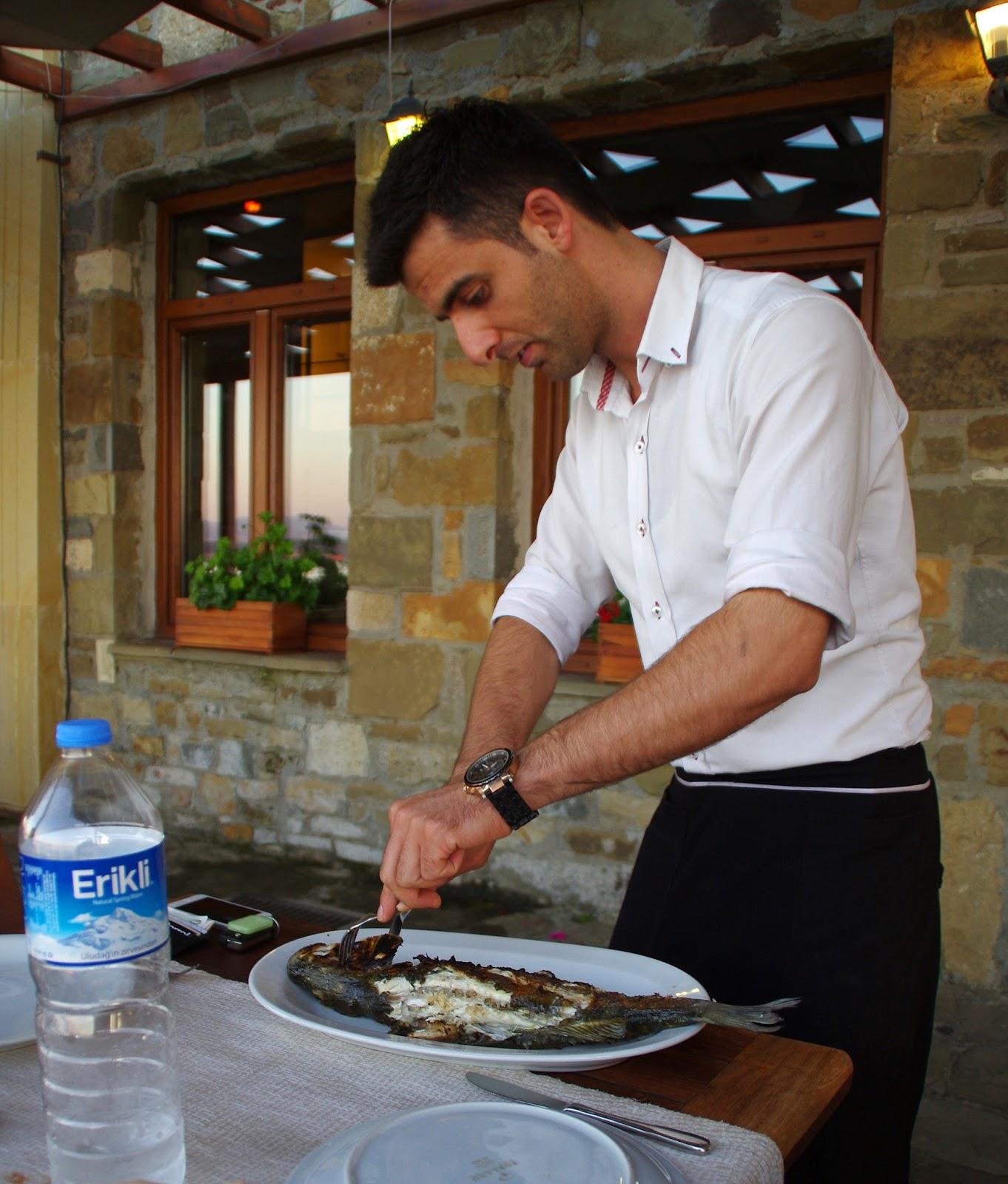 Eceabat Restaurant Dinner Seabass