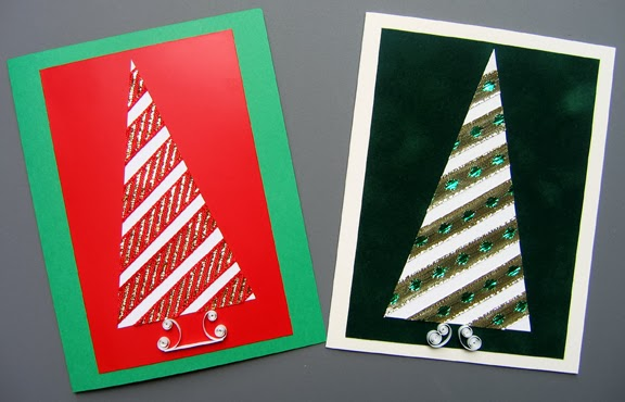 Christmas Ribbon Tree Cards