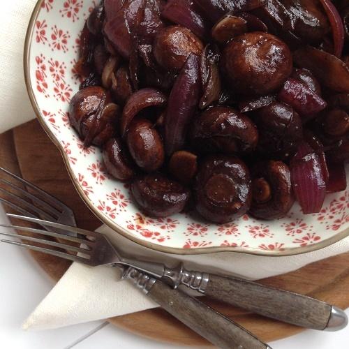 Funghi all'aceto balsamico ~ Champignons in Balsamico