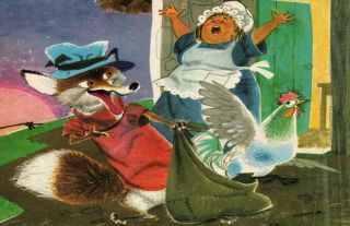 La aldeana, la zorra y el gallo