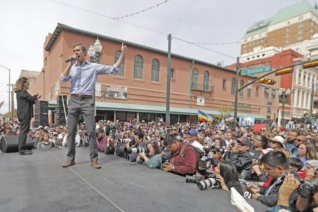 O'Rourke speaks for immigration in hometown Texas kickoff