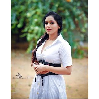 Anchor Rashmi Gautam Latest White Dress Photoshoot