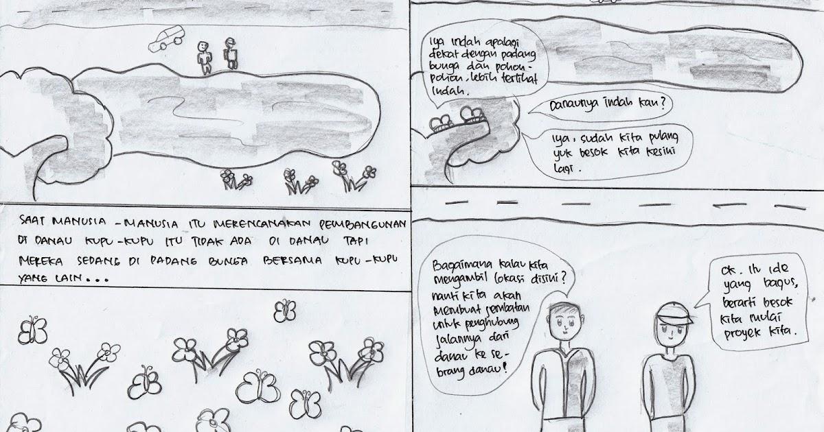 Gambar Komik Lingkungan Hijau Udaraku Bersih Komicbox