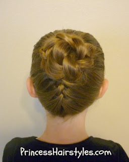 upside down french braid updo