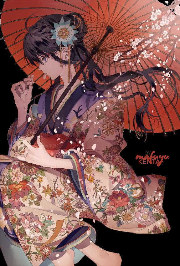 render Girl with kimono
