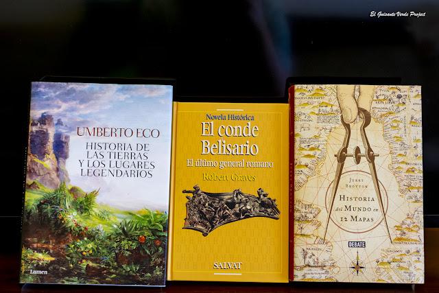 Libros y mapas, Umberto Eco, Robert Graves, Brottom por El Guisante Verde Project