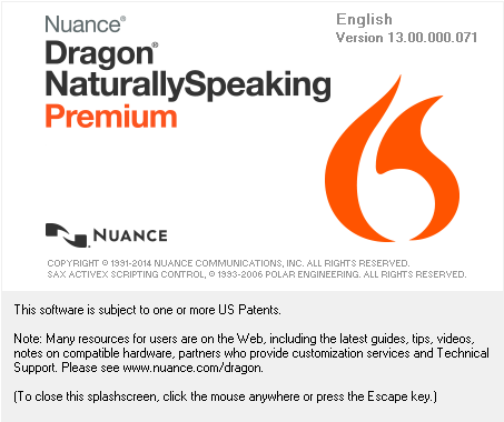 dragon naturallyspeaking 13 key