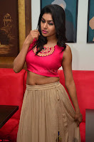 Akshita super cute Pink Choli at south indian thalis and filmy breakfast in Filmy Junction inaguration by Gopichand ~  Exclusive 071.JPG