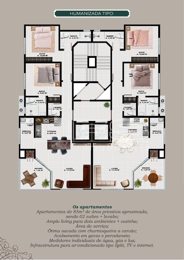 Torre do sol residencial apartamento em itapema santa for Sol residencial