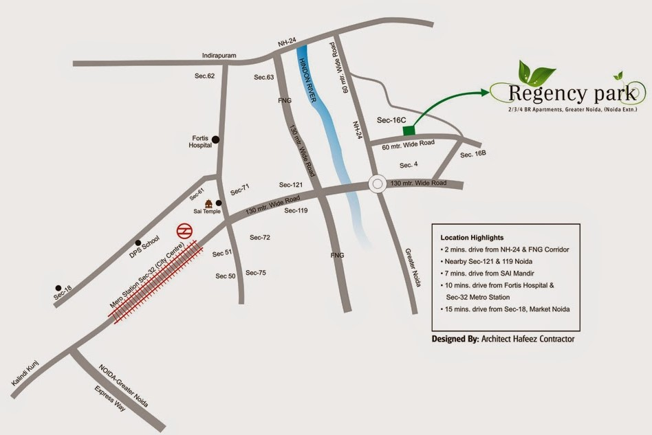 Aarcity-Regency-Park-Noida-Extension-Location-Map