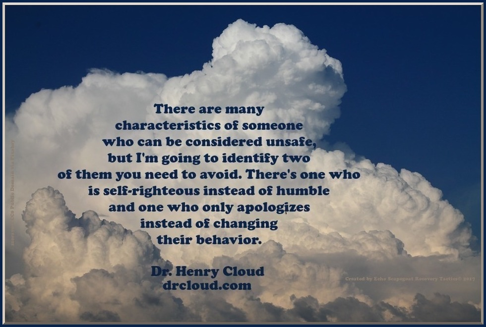 Unsafe People to Avoid: Self-Righteous and Only Apologize Quote
