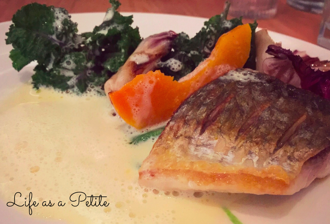 Silver mullet, purple sprouts, pumpkin, Italian leaves - Arbutus Pre-theatre menu review