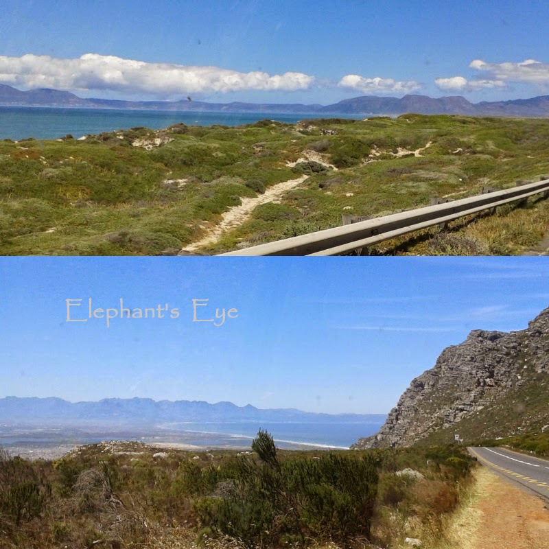False Bay from Baden Powell Drive coming from Khayelitsha Ou Kaapse Weg coming down to Muizenberg