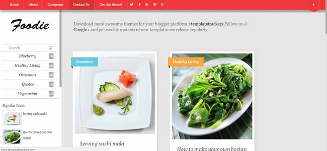 50 free full seo responsive and surpassing blogger templates themes foodie blogger theme forumfinder Gallery