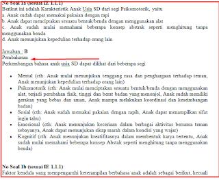 Soal UKG SD Dan TK/PAUD Kunci Jawaban Serta Pembahasan