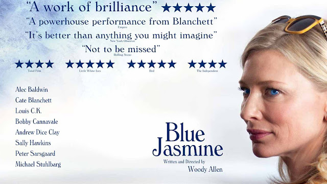 cartel en inglés de la pelicula Blue Jasmine (2013), con Cate Blanchett