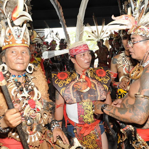 Tinuku Travel Gawai Dayak Week in Pontianak celebrate thanksgiving to Jubata conducted by Dayaks tribe culture
