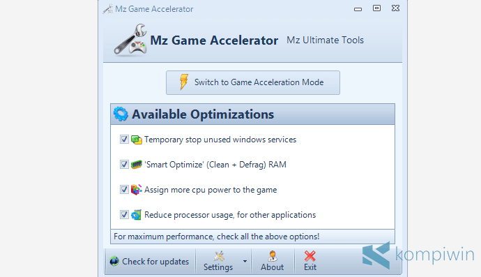 mz game accelerator
