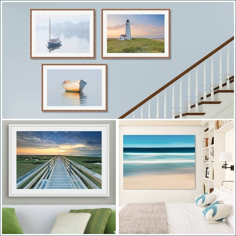 Serene Coastal Seaside Photography Prints