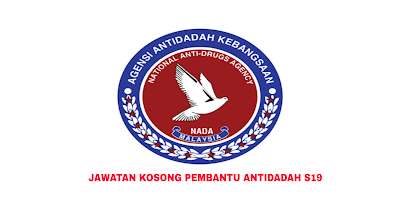Permohonan Jawatan Kosong Pembantu Antidadah S19 2019