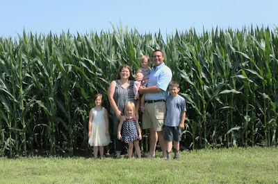 Knee High by the 4th of July Iowa Corn Farm Family