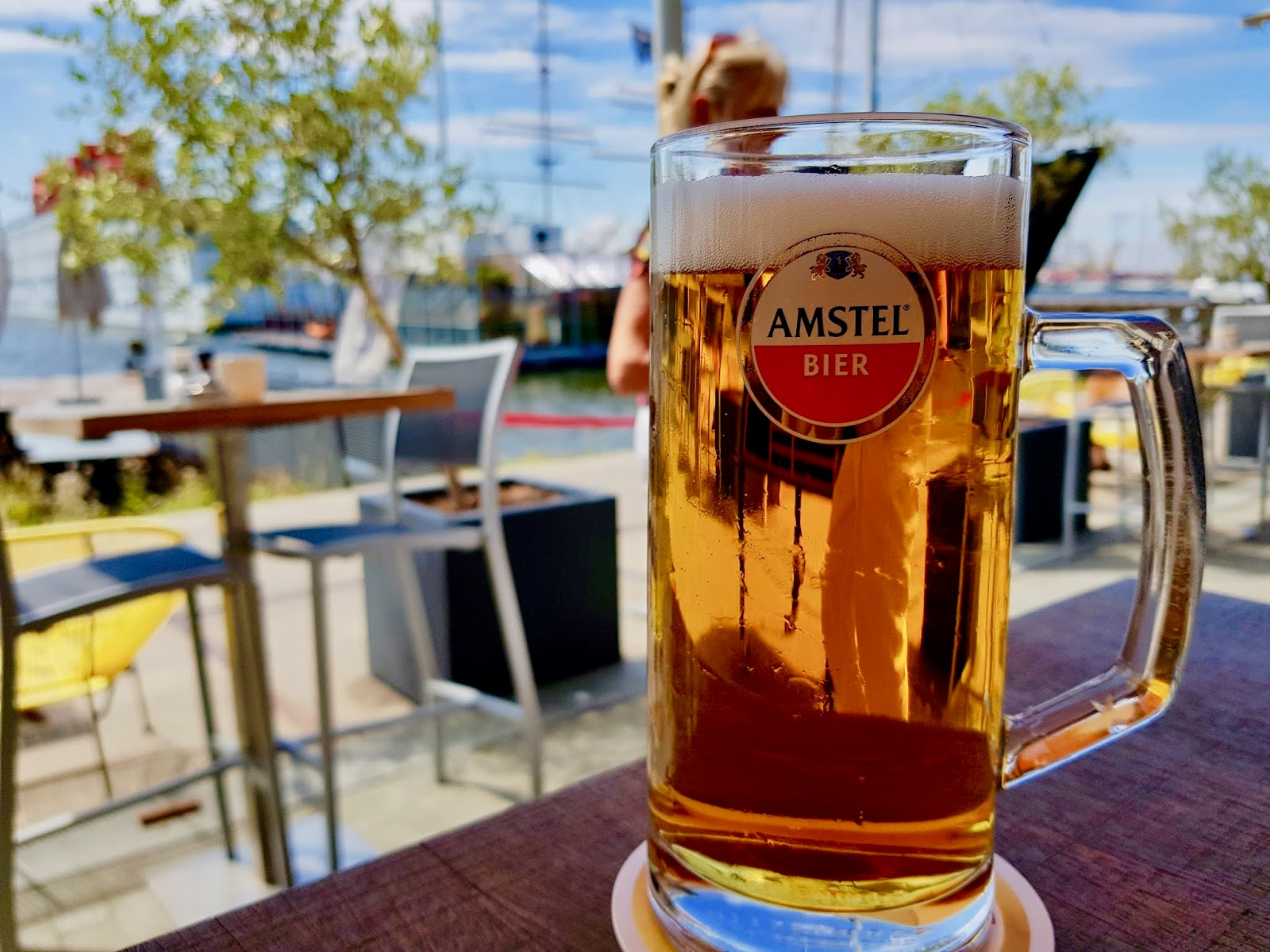 amsterdam vegetarian vegan food IJ Kantine wharf beer