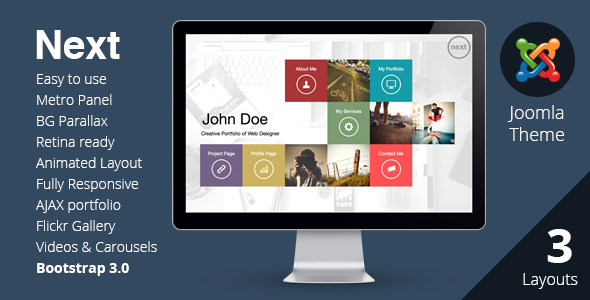 NEXT – Joomla Unique & Easy Portfolio