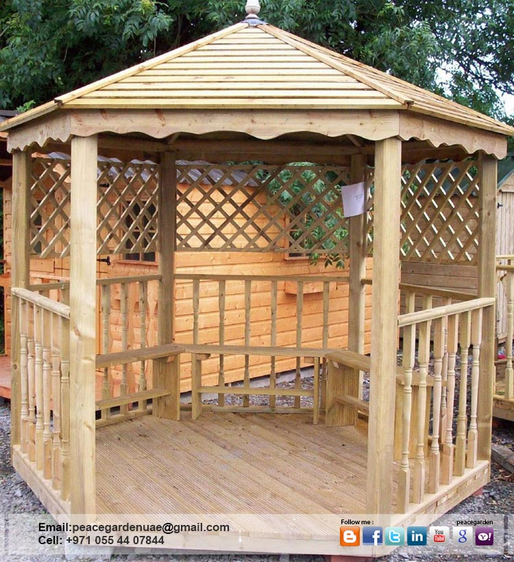 Design Build And Install Wooden Gazebo Dubai