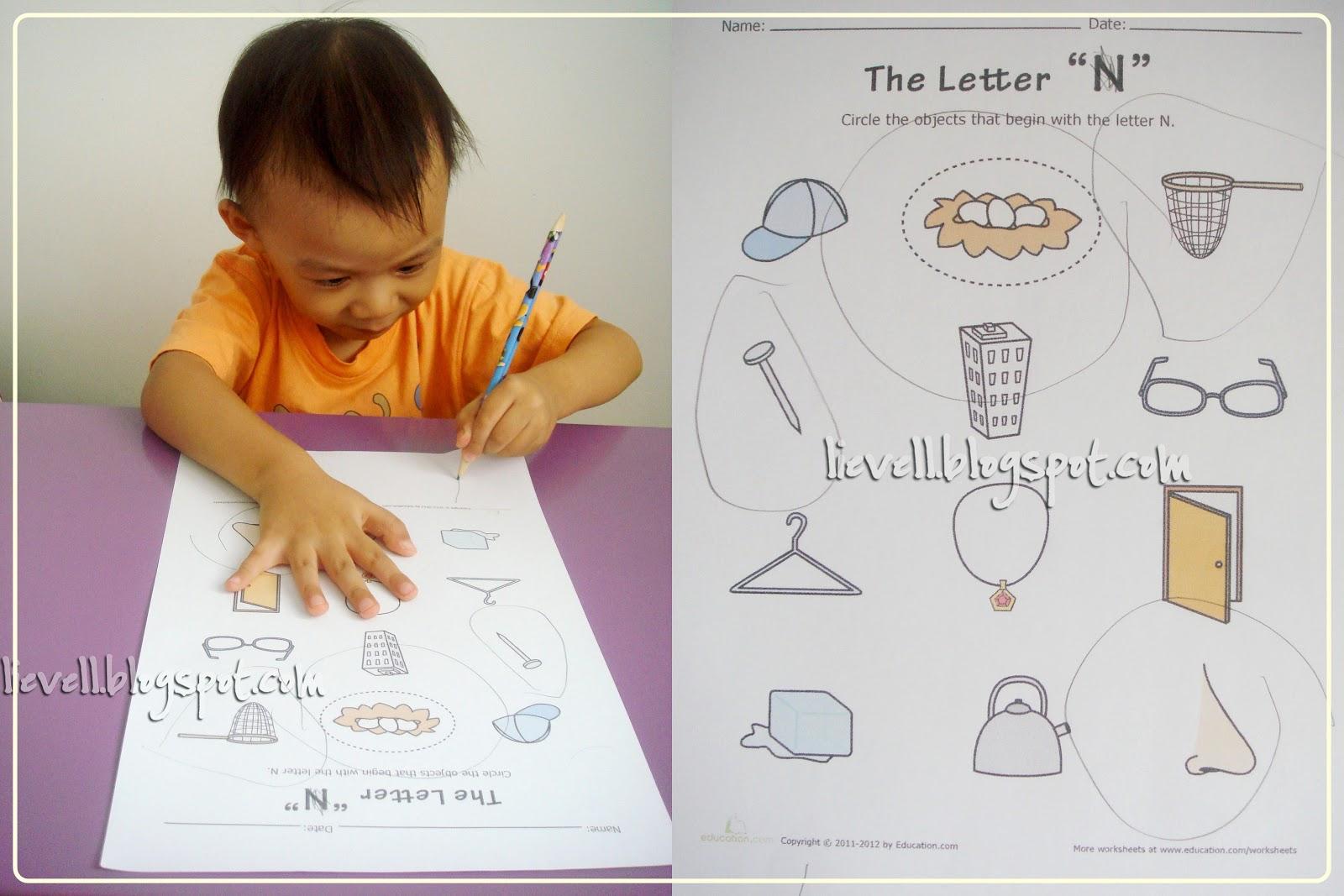 Preschool Letter N