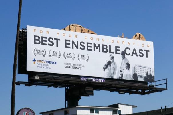 Best Ensemble Cast Providence St Joseph Medical billboard