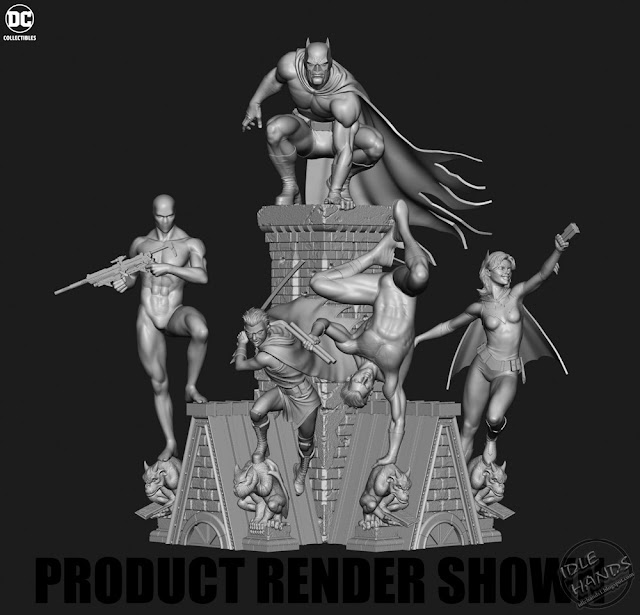 SDCC 2018 DC Collectibles Bat-Family Multi-Part Statue Set