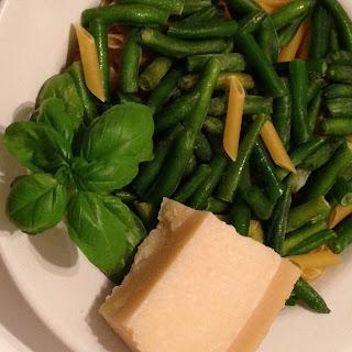 Pasta al pomodoro con judias verdes, preparación 1