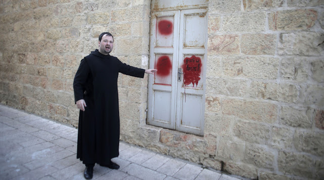 Biara Yerusalem Dirusak dan Tertulis Grafiti 'Kematian Bagi Orang Kristen Kafir, Musuh Israel'