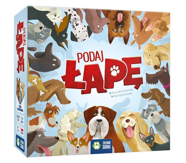 gra planszowa podaj łapę pieski psy ilustracje dla dzieci katarzyna urbaniak zielona sowa gry