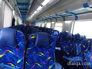 interior gerbong Ekspres Selatan